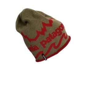 Patagonia Brown & Red Beanie Cap Hat